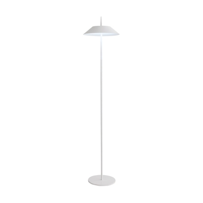 White Finish Coolie Standing Light Simplicity Iron 1 Head Floor Lamp for Living Room