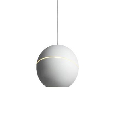 White Globe Suspended Light Post Modern Elegant Metal Drop Light for Bar Restaurant