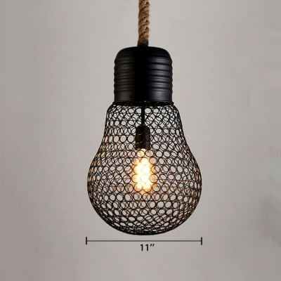 Industrial Hanging Pendant Light 9 Inch High 1 Light in Black