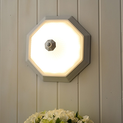 White Ribbed Sconce Light Rustic Style Frosted Glass LED Wall Mount Fixture for Coffee Shop
