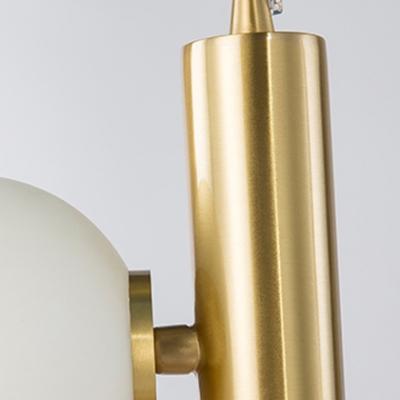 3 Light Ball Hanging Lamp Modern Fashion Metal Drop Ceiling Lighting for Sitting Room