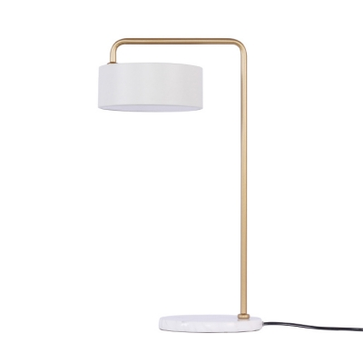 Acrylic Round Desk Lamp Designers Style Contemporary LED Night Light in White for Bedroom