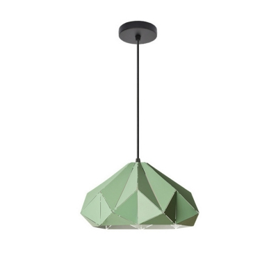 Colorful Nordic Origami Pendant Light Iron Single Light Lighting Fixture for Children Room