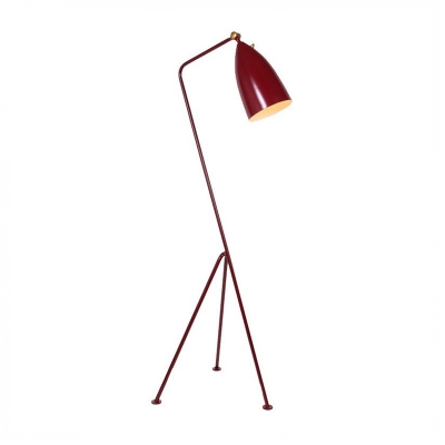 Designers Style Conical Floor Light Simple Contemporary Metal LED Floor Light in Red/Yellow