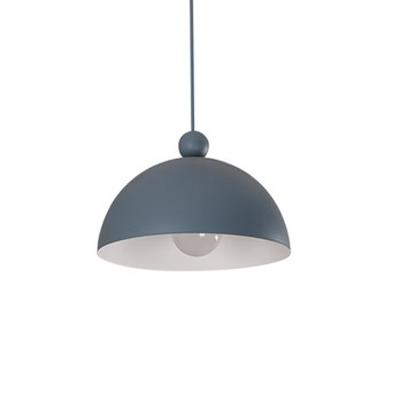 Half Globe LED Pendant Lamp Macaron Simple Colorful Metal Ceiling Light for Children Room