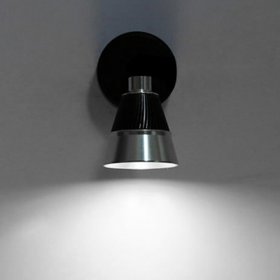Modernism Cone LED Wall Mount Light Rotatable Metal 1 Light Spotlight in Warm/White for Cabinet