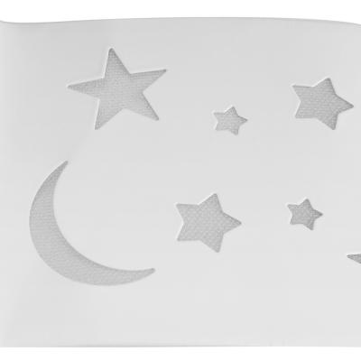 White Star Shape LED Flush Light Modern Design Metallic Ceiling Fixture for Kindergarten Kids Room