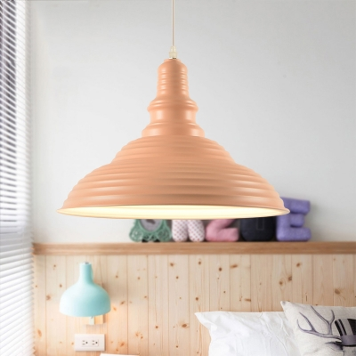 Barn Pendant Lamp Designers Style Macaron Iron 1 Head Hanging Light for Children Room