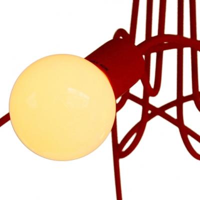 Burst Bulbs Designer Flush Mount With 5 Lights
