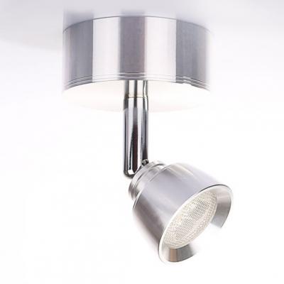 Chrome Rotatable Arm LED Wall Sconce Simplicity Metallic Single Head Reading Light