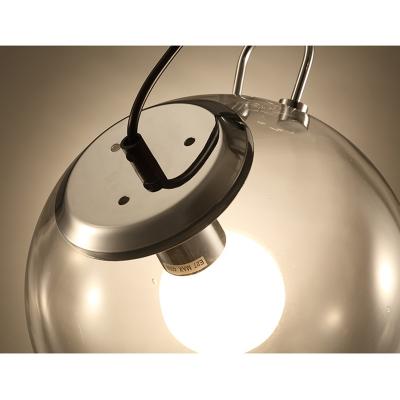 Clear Glass Ball Ceiling Light Modern Design 1 Light Semi Flush Mount Lighting in Chrome