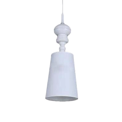 Coolie Pendant Lamp Modernism 1 Head Suspended Light with White Fabric Shade