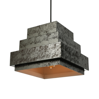 Industrial Rustic 4 Light Pendant Lighting in Wrought Iron for Cafe Bar Restaurant