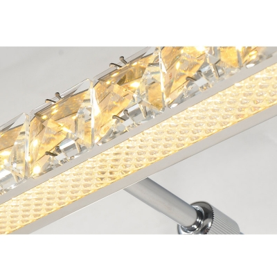 Linear LED Lighting Fixture Contemporary Crystal Wall Light for Dressing Table Mirror