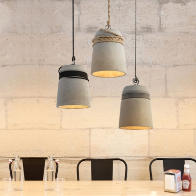 Modern Industrial Down Ceiling Lamp Concrete LED Decorative Pendant Light for Living Room