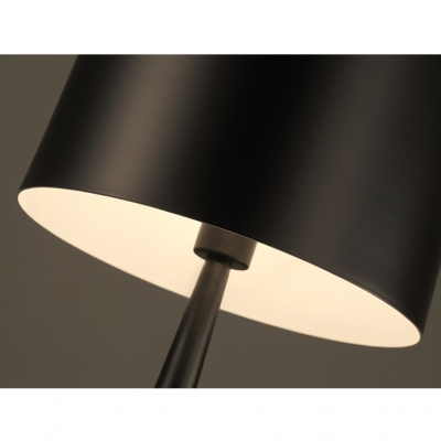 Round LED Floor Light Contemporary Concise Accent Floor Lamp in Black for Living Room