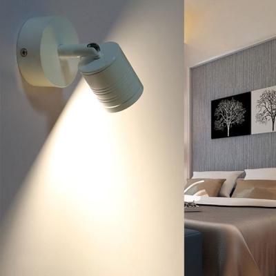 White Mini LED Wall Lamp Modern Metal 1 Head Sconce Lighting for Staircase Corridor