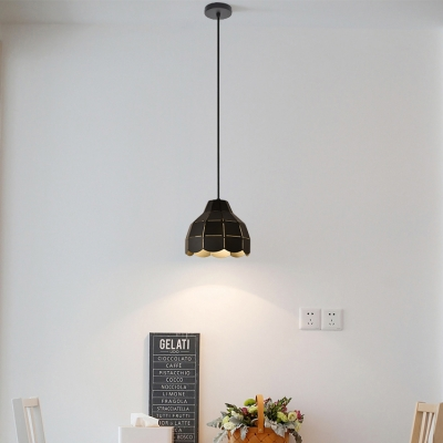 Adjustable 1 Head Dome Pendant Light Modern Fashion Metal Drop Ceiling Lighting in Black