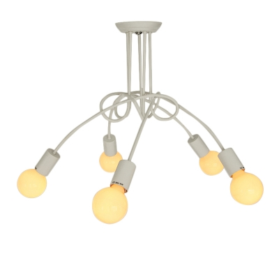 Burst Bulbs Designer Flush Mount With 5 Lights