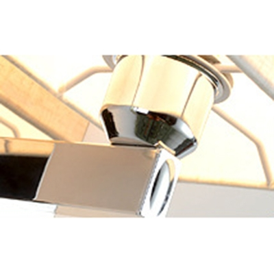 Modern Chic Rectangle Sconce Light Single Light Wall Mount Fixture with Fabric Shade in Chrome
