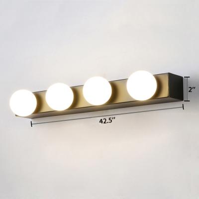 Multi Light Open Bulb Vanity Light Hollywood Style Mirror Light in Black for Screw Base Light Bulb