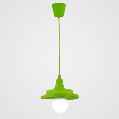 Silicone Cone Suspension Light Colorful Stylish Kindergarten 1 Head Hanging Light fixtures