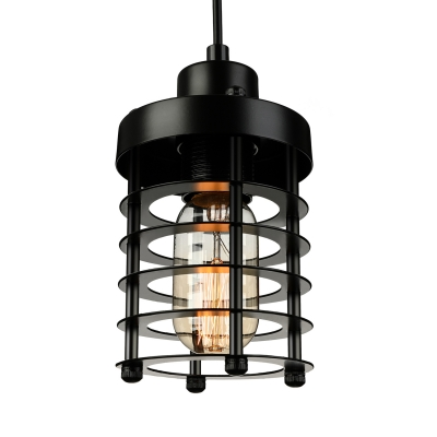 Wire Guard Cylinder Pendant Light 8.5