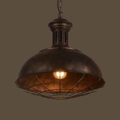 15'' Wide Neo-Industrial 1 Light Full Sized LED Pendant