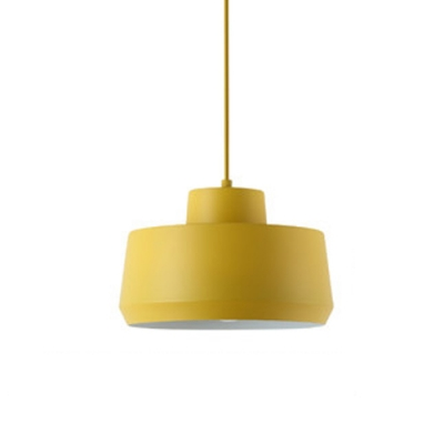 Cylinder LED Suspension Lamp Contemporary Colorful Metal Drop Light for Children Room
