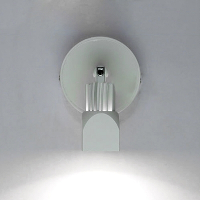 Metallic Armed LED Sconce Light Simplicity Single Head Wall Light in Warm/White for Bedroom