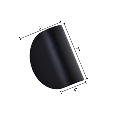 Arched Shade Wall Light Simplicity Aluminum Wall Lamp in Black for Staircase