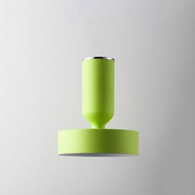 Colorful Simple Cylinder Ceiling Light Metallic Single Head Semi Flush Light Fixtures