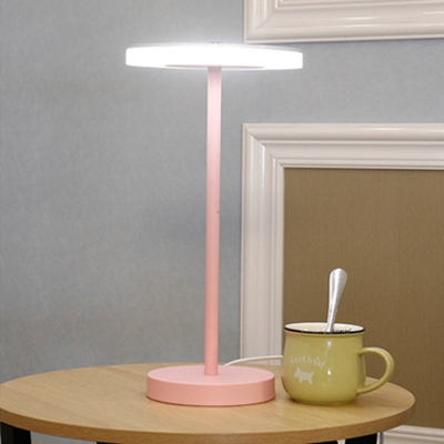 Disc LED Table Light Stylish Macaron Colorful Acrylic Desk Light for Children Room