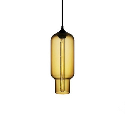 Glass Geometric Suspended Lamp Modernism 1/2 Light Lighting Fixture in Amber/Brown