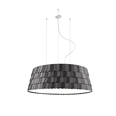 Gray Roofer Hanging Lamp Modernism Metal 5/6 Lights Lighting Fixture for Coffee Shop