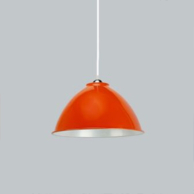Industrial Contemporary Hanging Lamp with Dome Shade, Multi-color Options, 15.7''