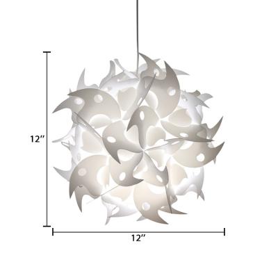 Jigsaw Style Suspended Light Contemporary Plastic Single Head Diy