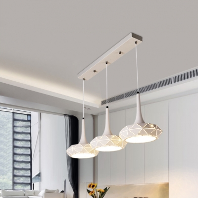 Metal Geometric Island Pendant Light Contemporary Lighting Fixture 3
