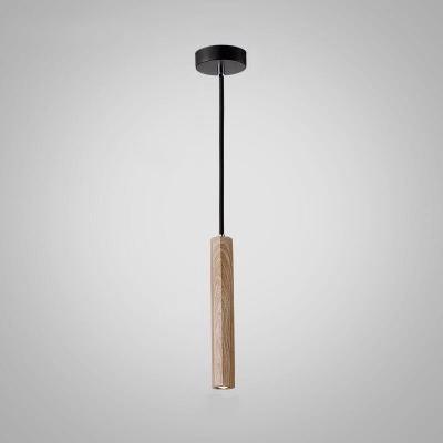 Slim Tube Hanging Light Contemporary Concrete Ceiling Pendant Light for Bar Restaurant