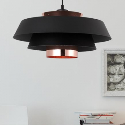 Three Tiers Cone Drop Light Designers Style Metal LED Pendant Lamp with On/off Push Switch