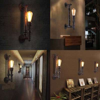 Torch Single Light Wall Sconce in Rust 16
