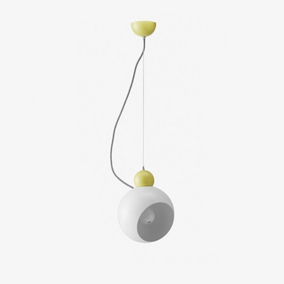 1 Light Globe Pendant Lamp Modern Fashion Metal Accent Hanging Light in Green/White