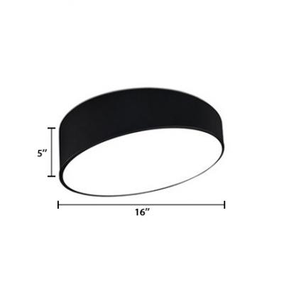 Acrylic Geometric Ceiling Light Minimalist Flush Light Fixtures in Black for Living Room