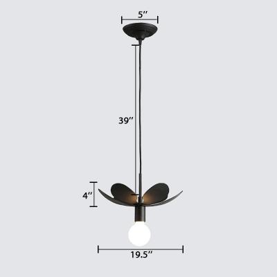 Black Bloom Suspension Light Stylish Modern Single Head Decorative Hanging Light
