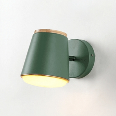 Conical Wall Lamp Contemporary Macaron Metal Rotatable LED Wall Light for Children Room