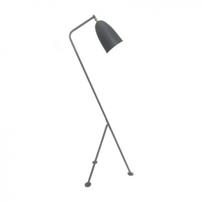 Gray Conical LED Floor Lamp Simple Modern Metal Home Decorative Floor Light for Bedroom