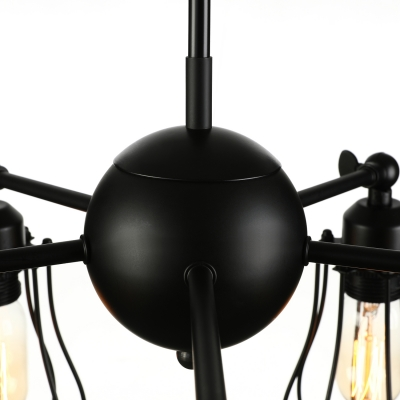 LOFT Cage Bulb Style Burt LED Pendant Light with 5 Lights