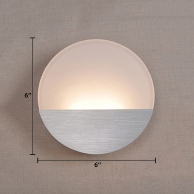 Modernism Oval Sconce Light Acrylic 1 Bulb Wall Light Fixture in White/Warm for Bedroom