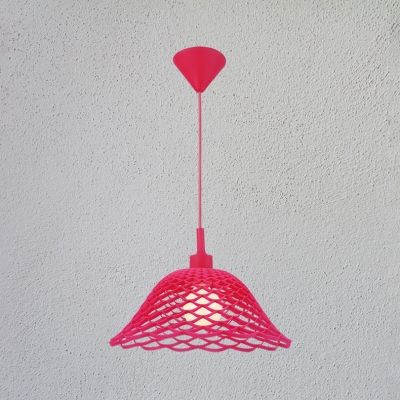 Colorful Modern Flared Drop Light Silicon Gel Single Head Suspended Light for Children Room