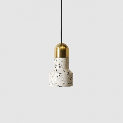 White LED Ceiling Lamp Contemporary Stone Hanging Lamp for Bedroom Kitchen